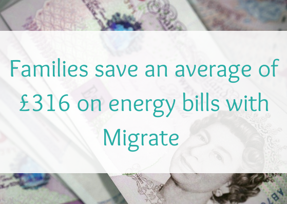 Families save an average of £316 on energy bills with Migrate
