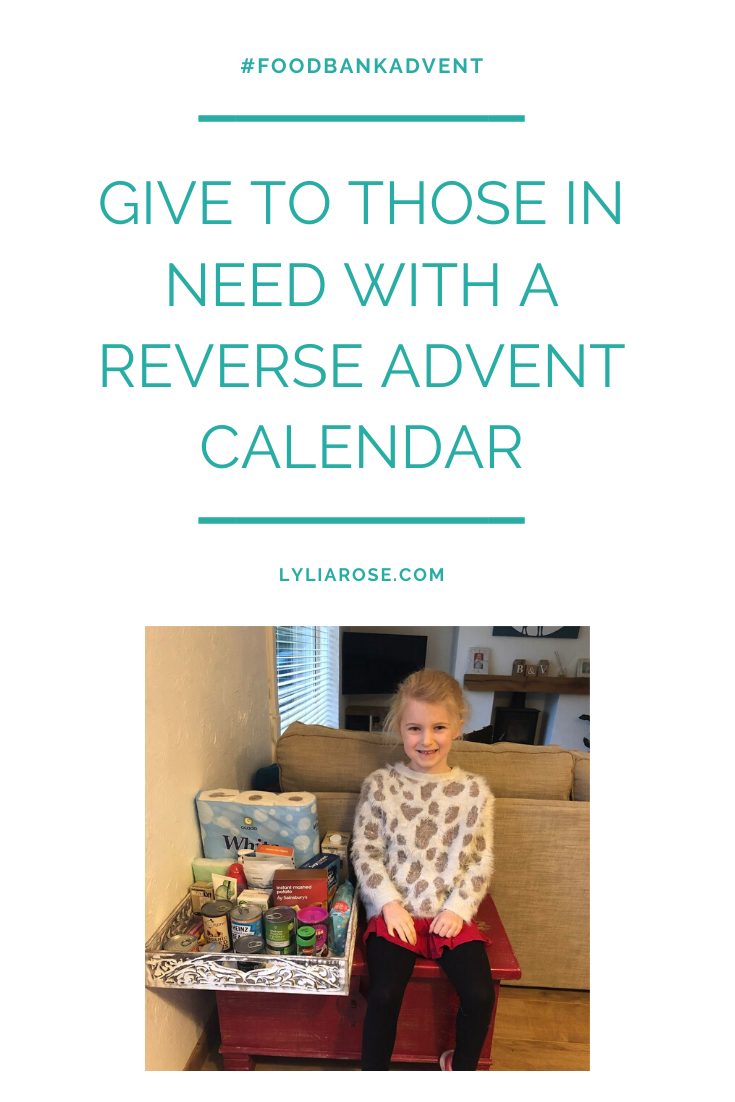 #FoodbankAdvent 2019 Give to those in need with a Reverse Advent Calendar