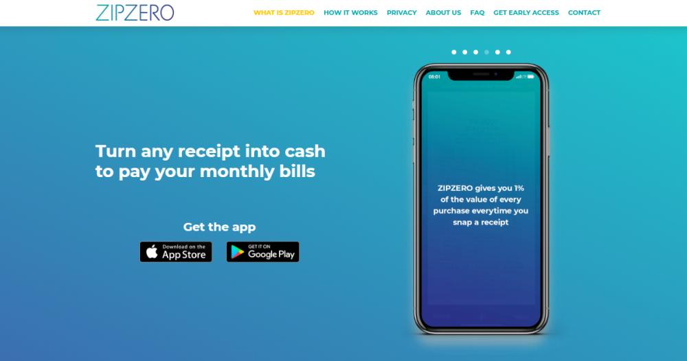 ZIPZERO receipt snapping app review UK save money on bills
