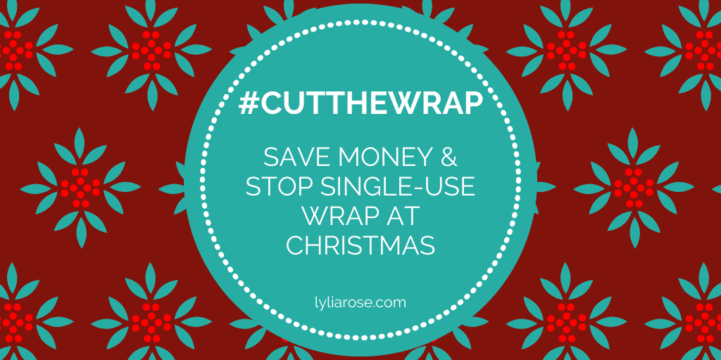 #Cutthewrap save money & stop using single-use wrapping paper this Christma