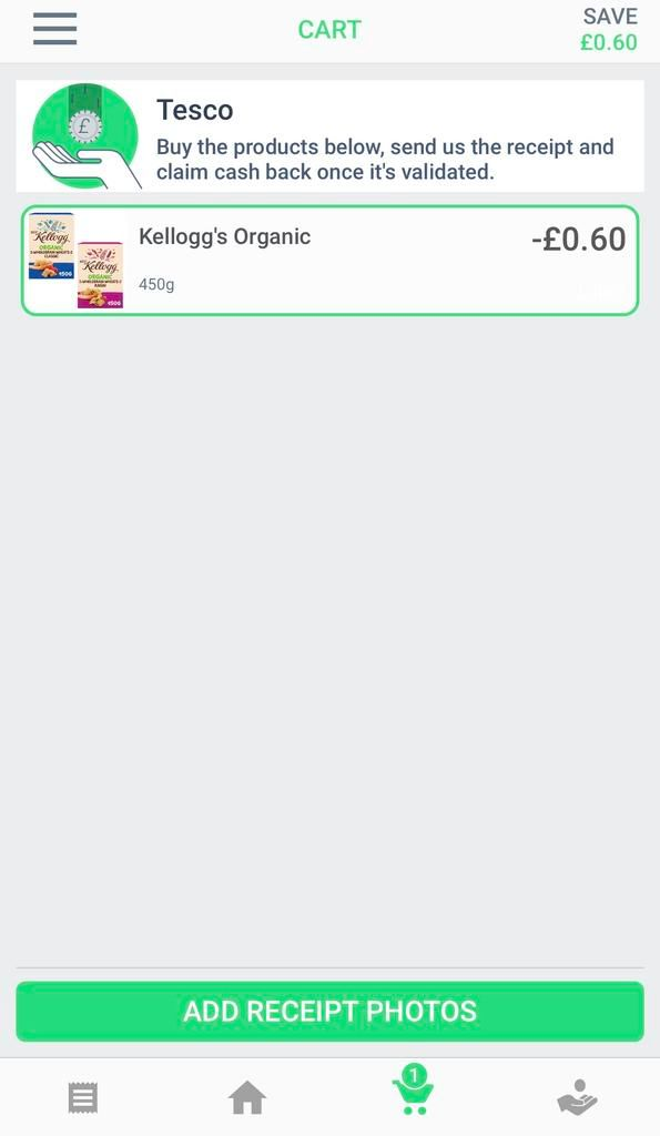 Save money at the supermarket with coupon app GreenJinn - how to add receip