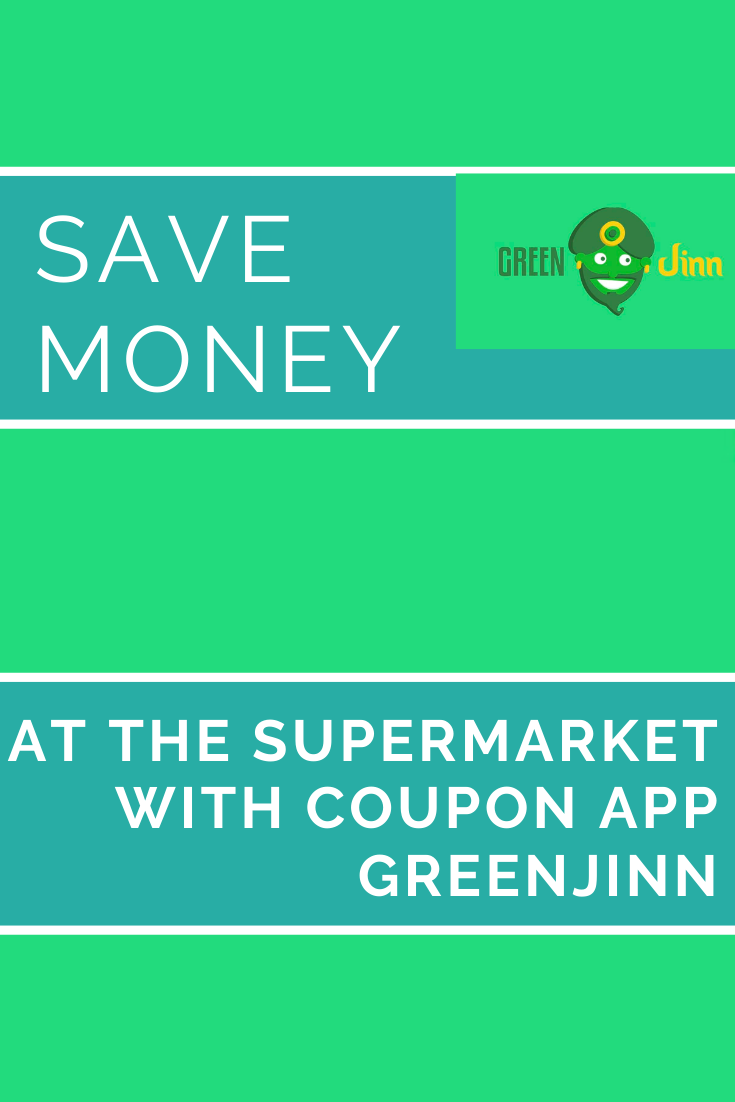 at the supermarket with coupon app GreenJinn