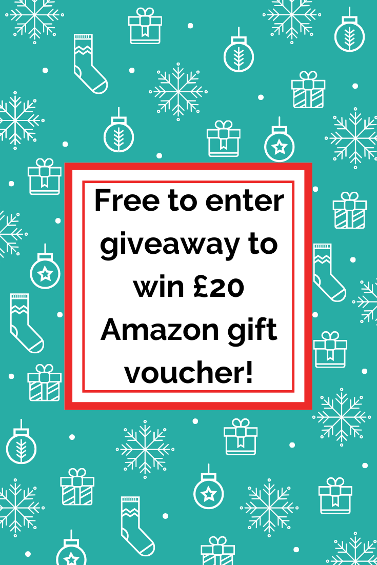 Free to enter giveaway to win £20 Amazon gift voucher