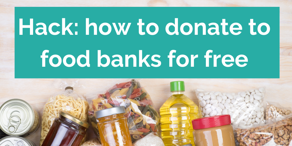 How to donate to food banks for free