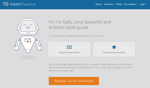 Make money blogging with Intellifluence
