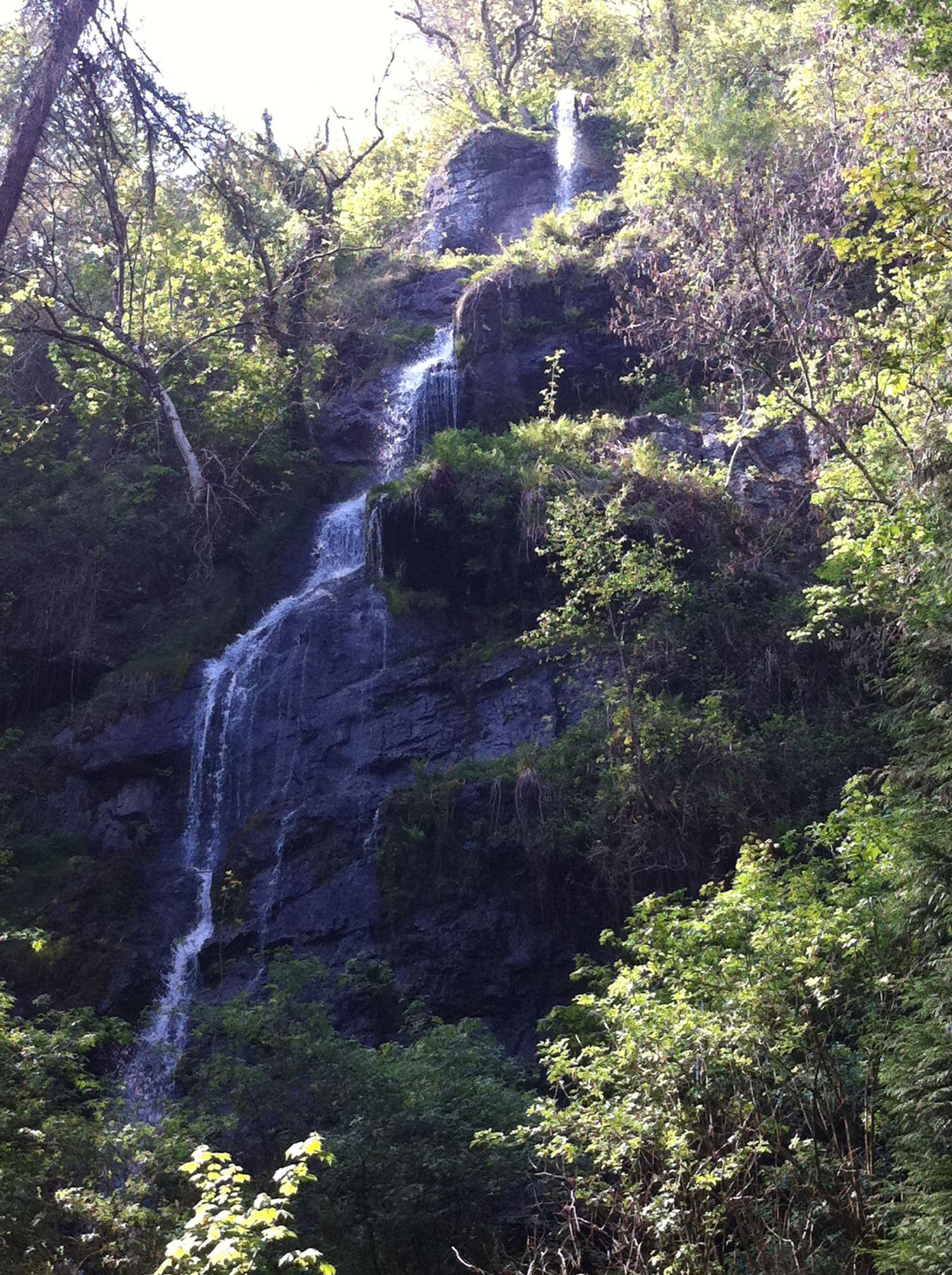 free stock photo waterfall Wales travel nature UK beauty trees