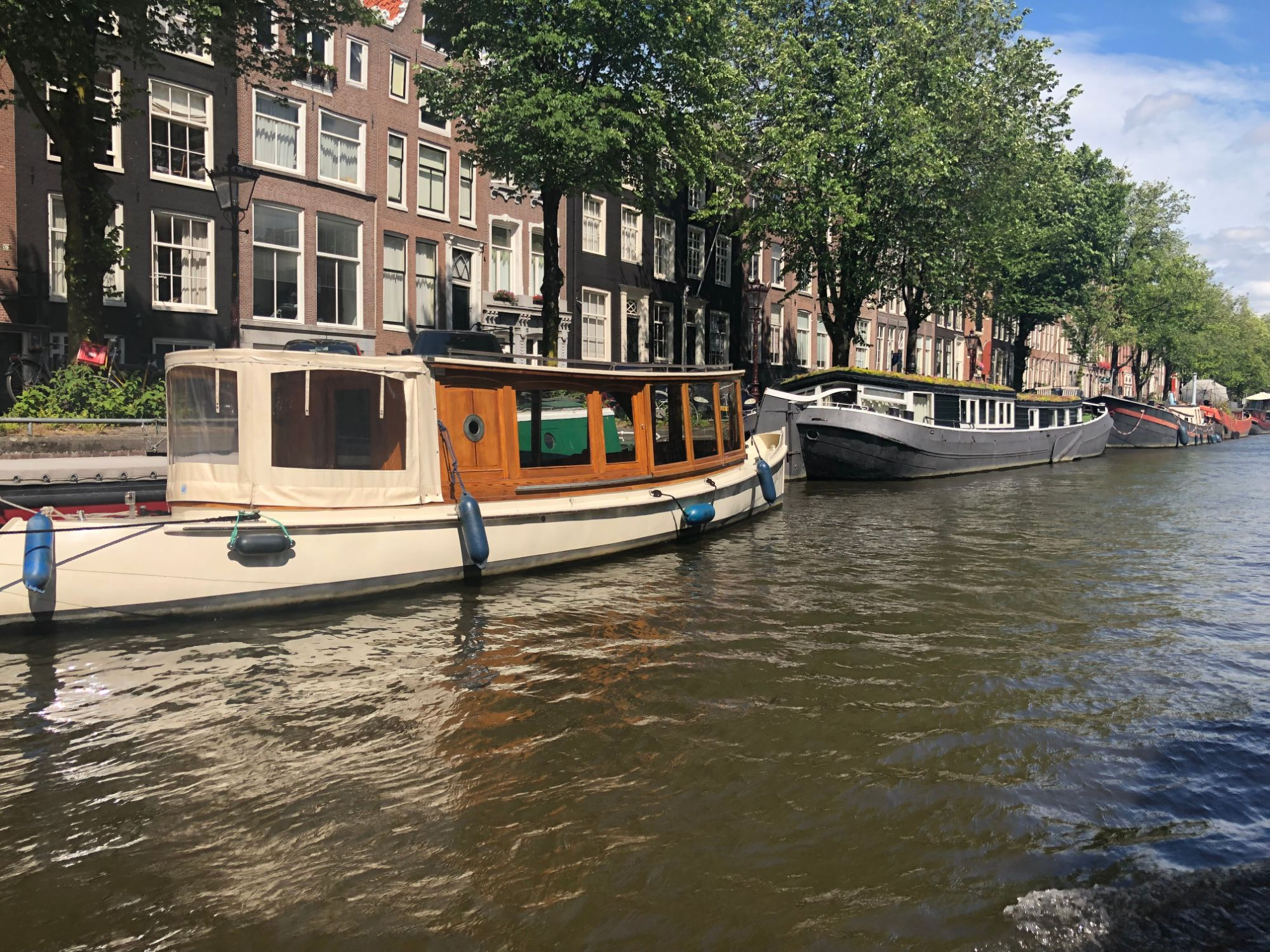 Free stock photo  Amsterdam canal boats