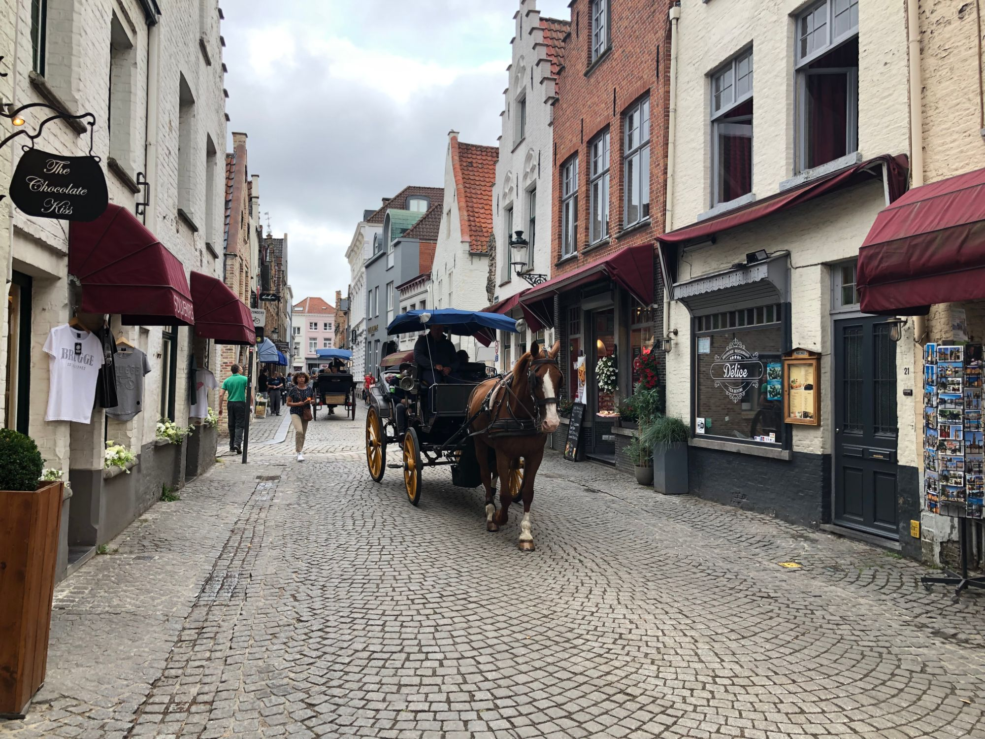 Free stock photo Bruges Belgium buildings architecture horse cart