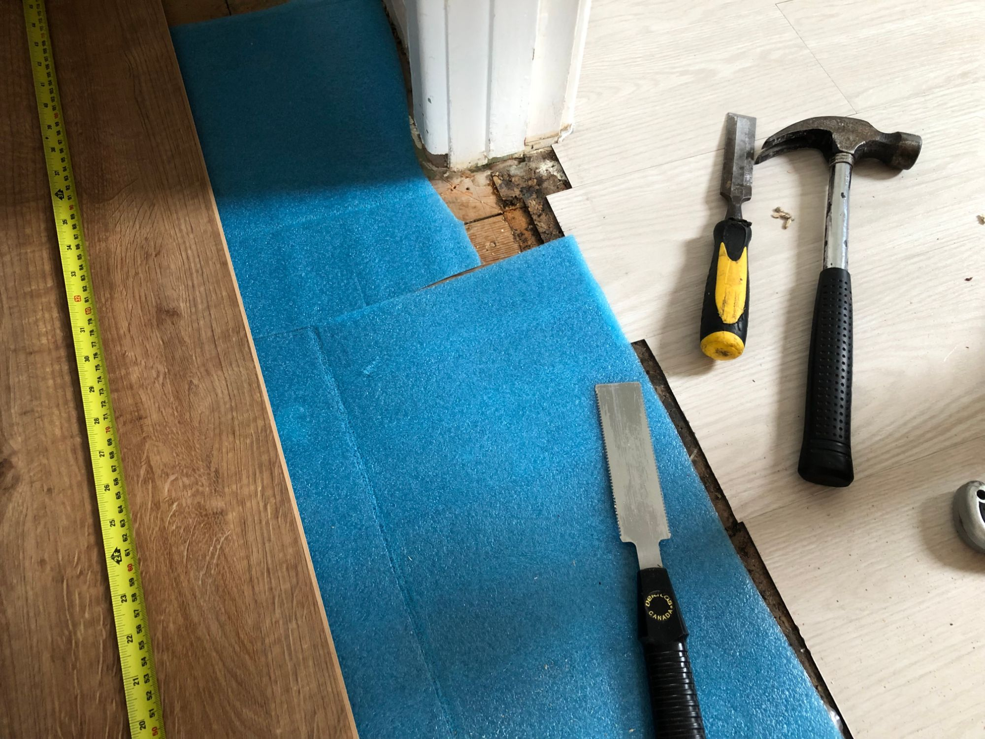 Free stock photo lay laminate floor DIY tools underlay