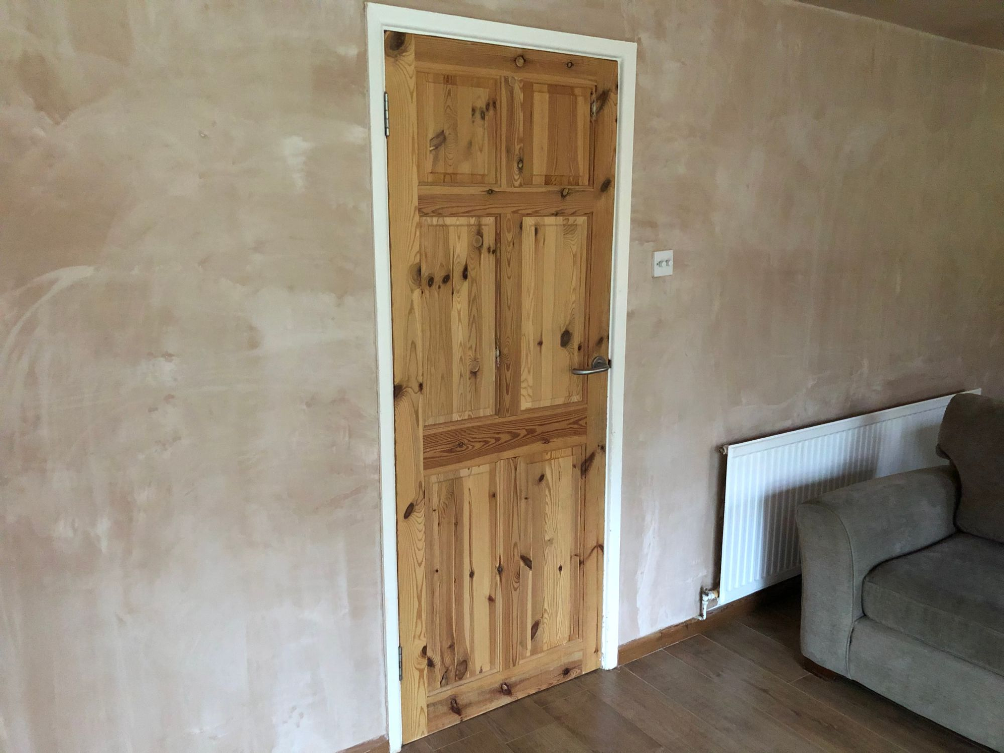 Free stock photo plaster wall replastering architrave pine door renovate house