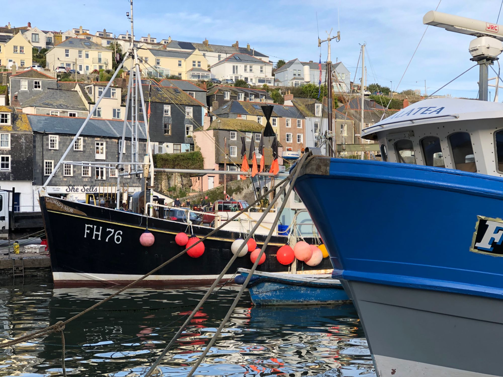 Free stock photo Mevagissey Cornwall fishing boats harbour
