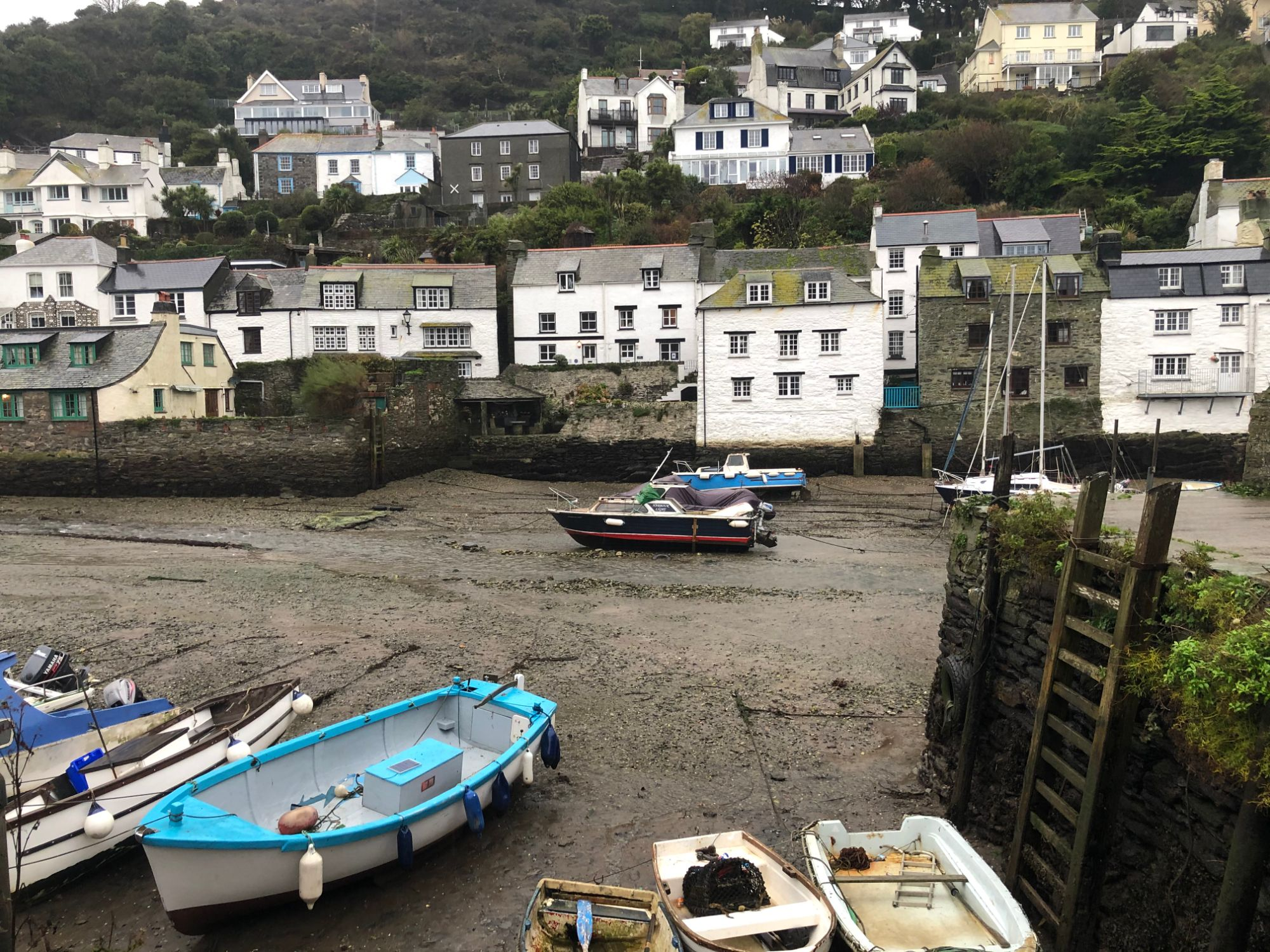 Free stock photo Polperro dry harbour Cornwall