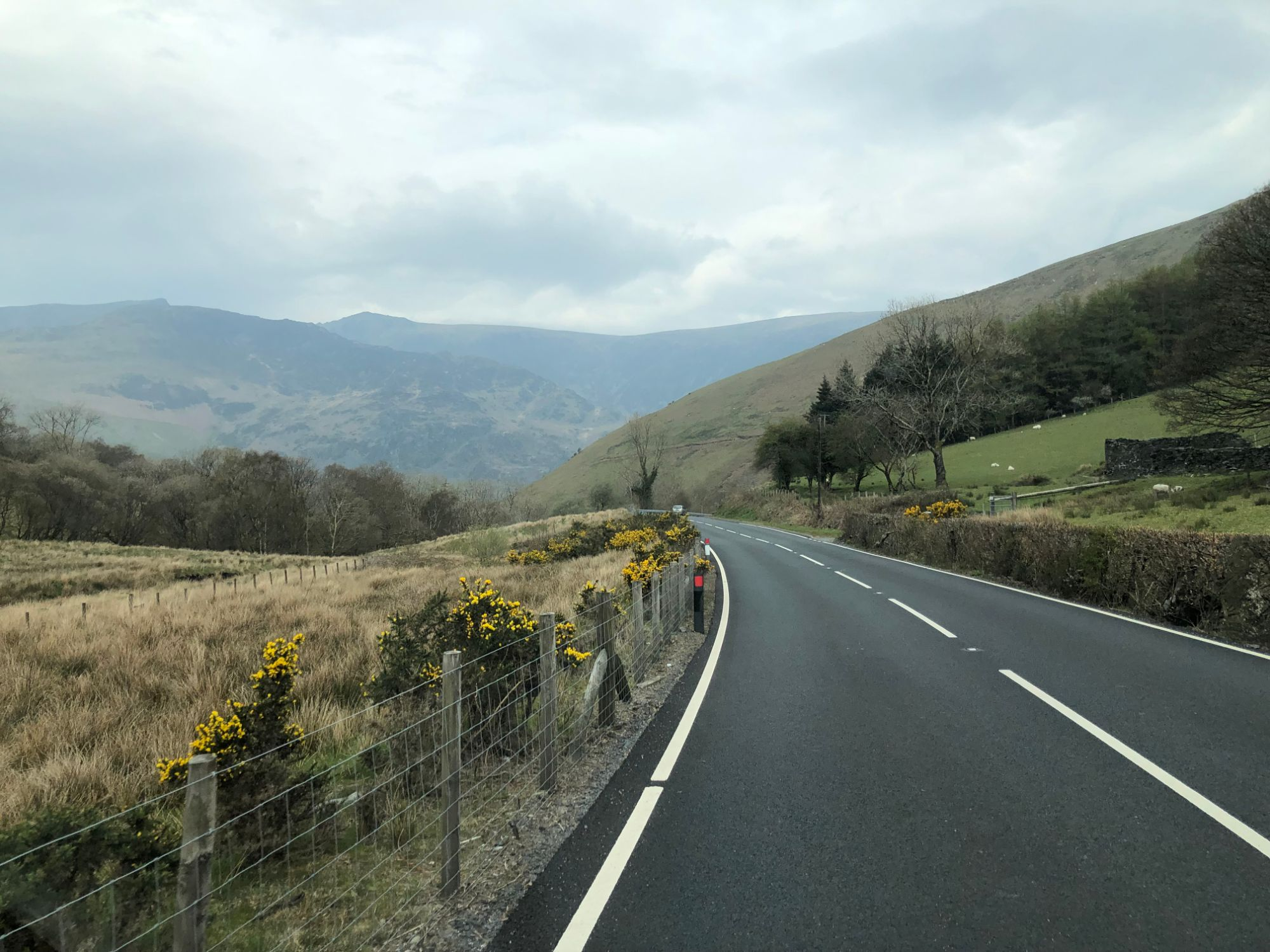 Free stock photo road trip country mountain roads Wales