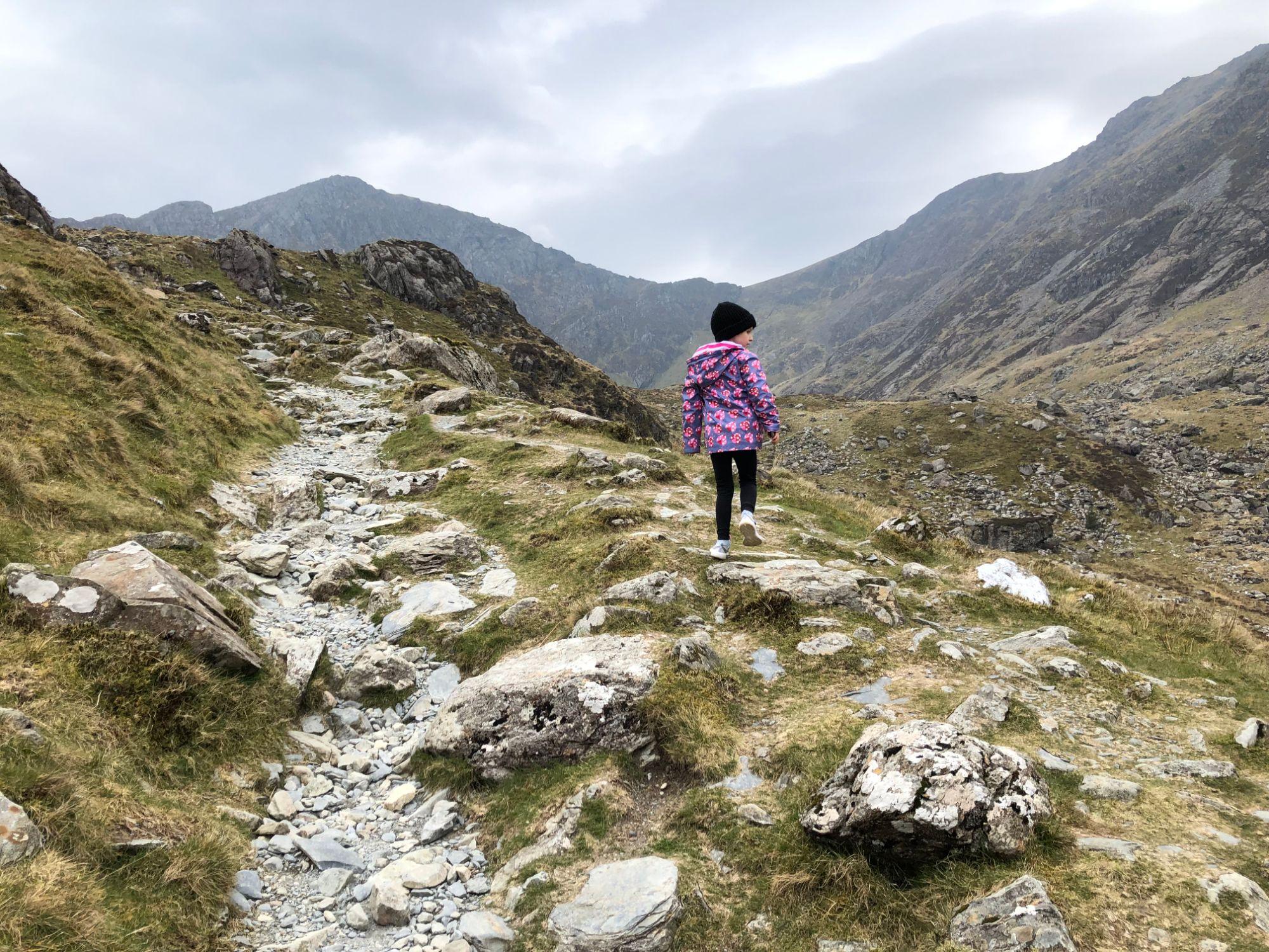 Free stock photo Cadair Idris Mountain Snowdonia Wales girl climbing