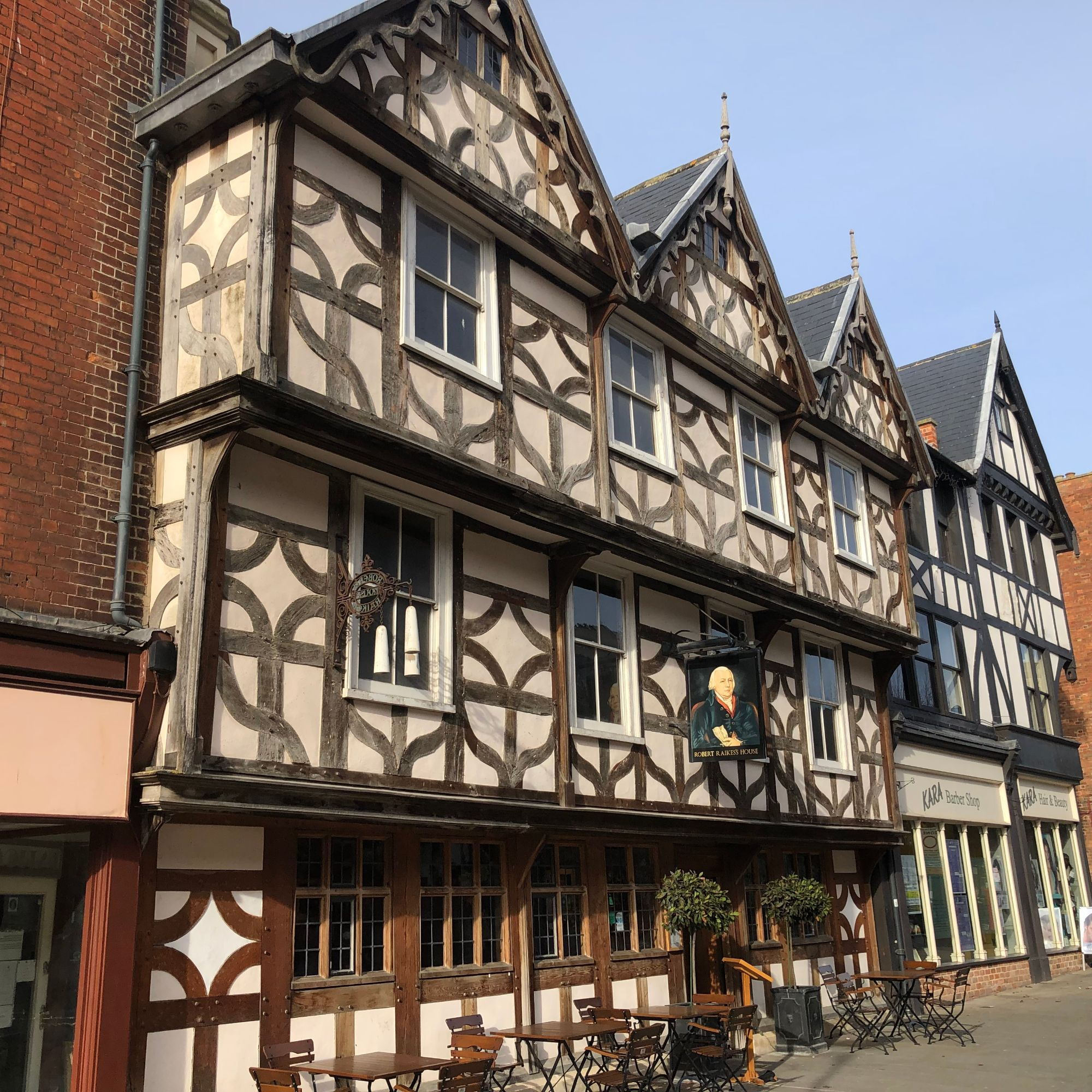 Free stock photo timber frame medieval building Gloucester city