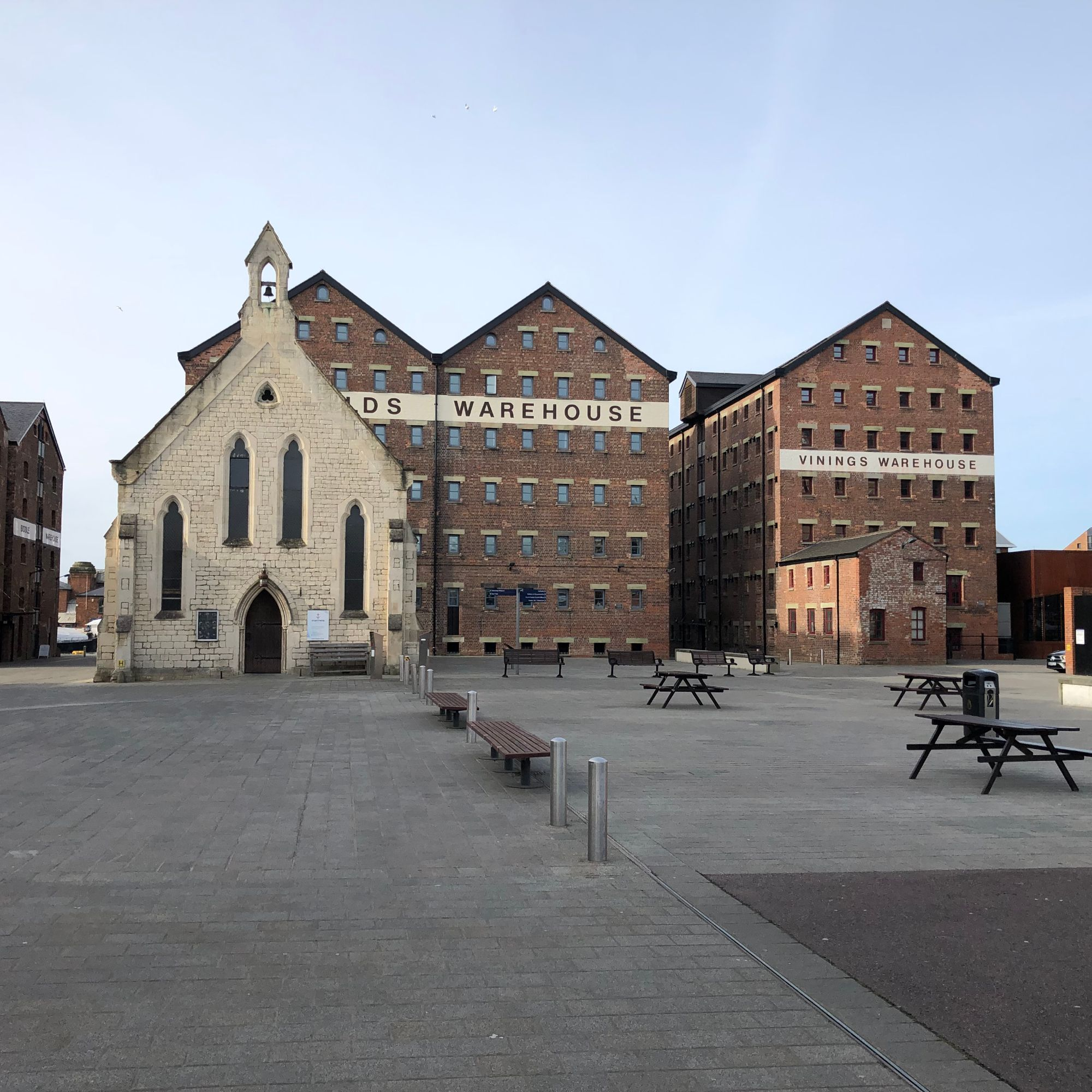 Free stock photo Gloucester Docks church  warehouses Victorian
