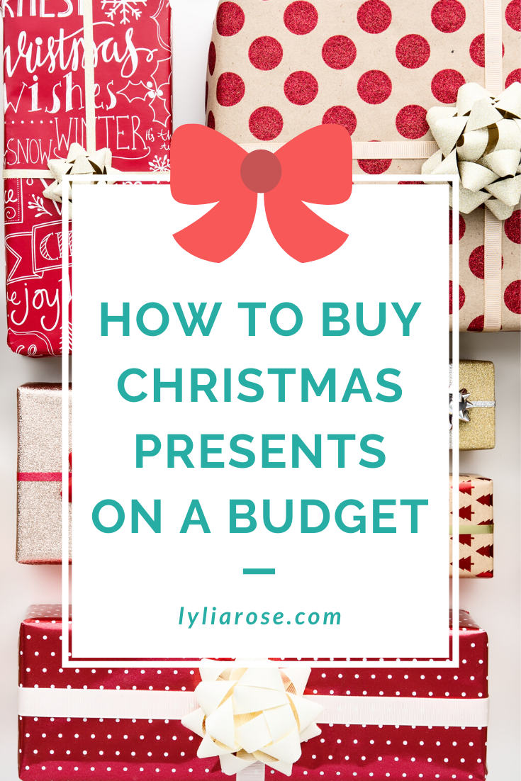 How to buy Christmas presents on a budget