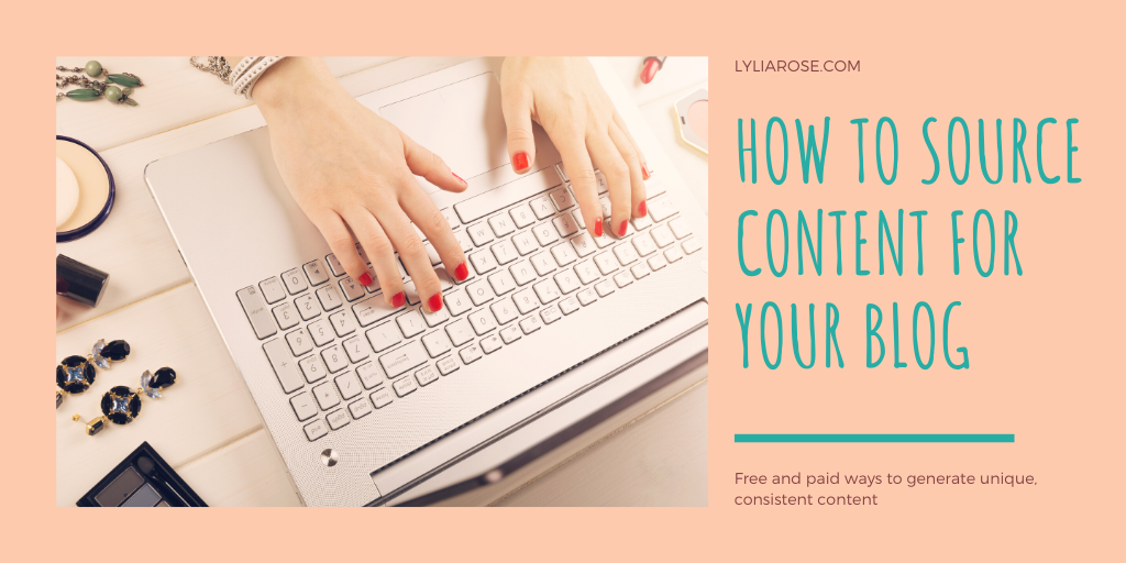 How to source content for your blog