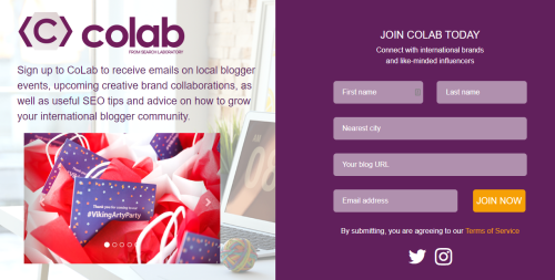 Find blog collaborations with Colab