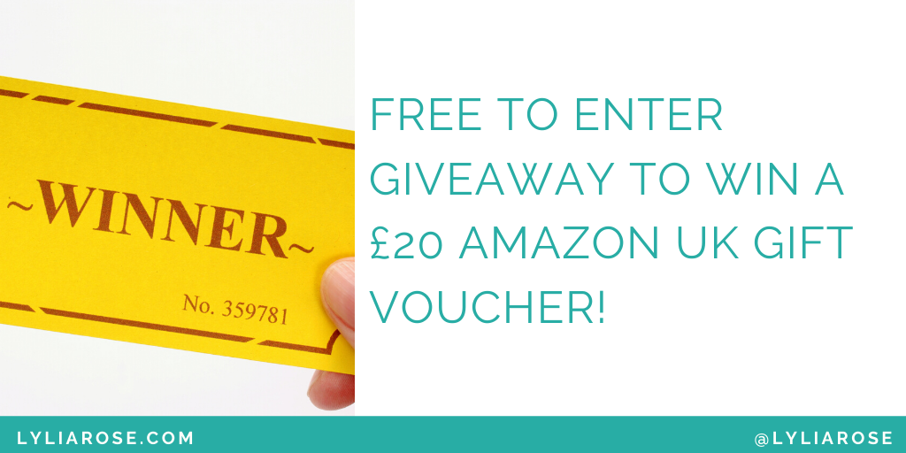 Free to enter giveaway to win a £20 Amazon UK gift voucher (1)