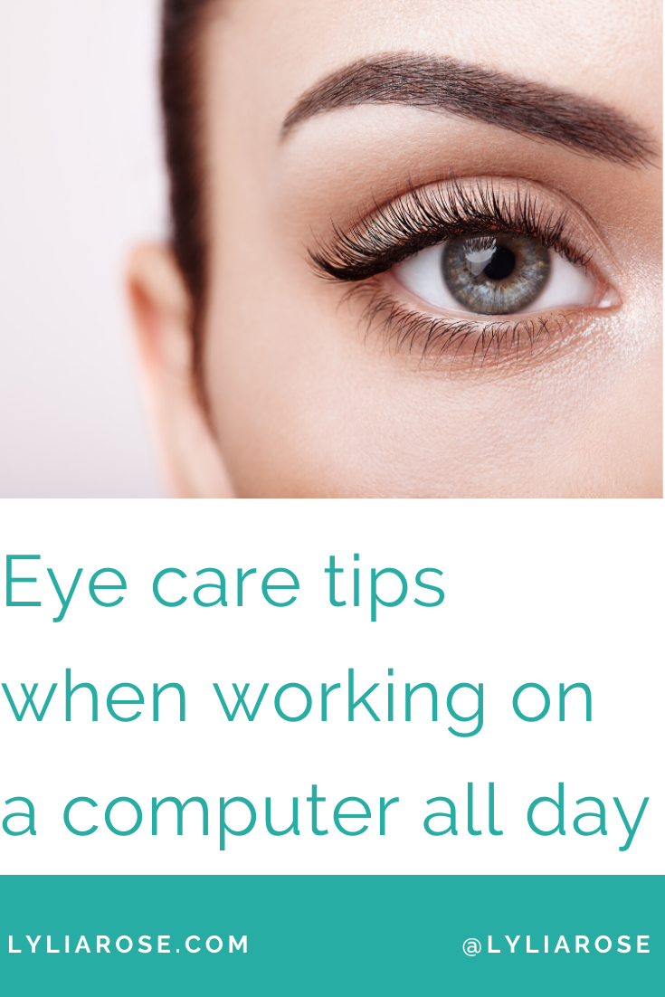 Eye care tips when working on a computer all day