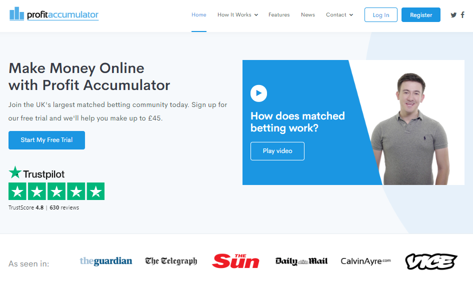 Profit Accumulator Free Trial Matched Betting Make Money Online