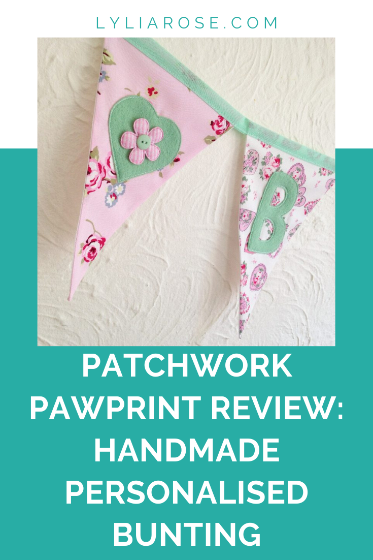 Patchwork Pawprint review_ handmade personalised bunting from Etsy