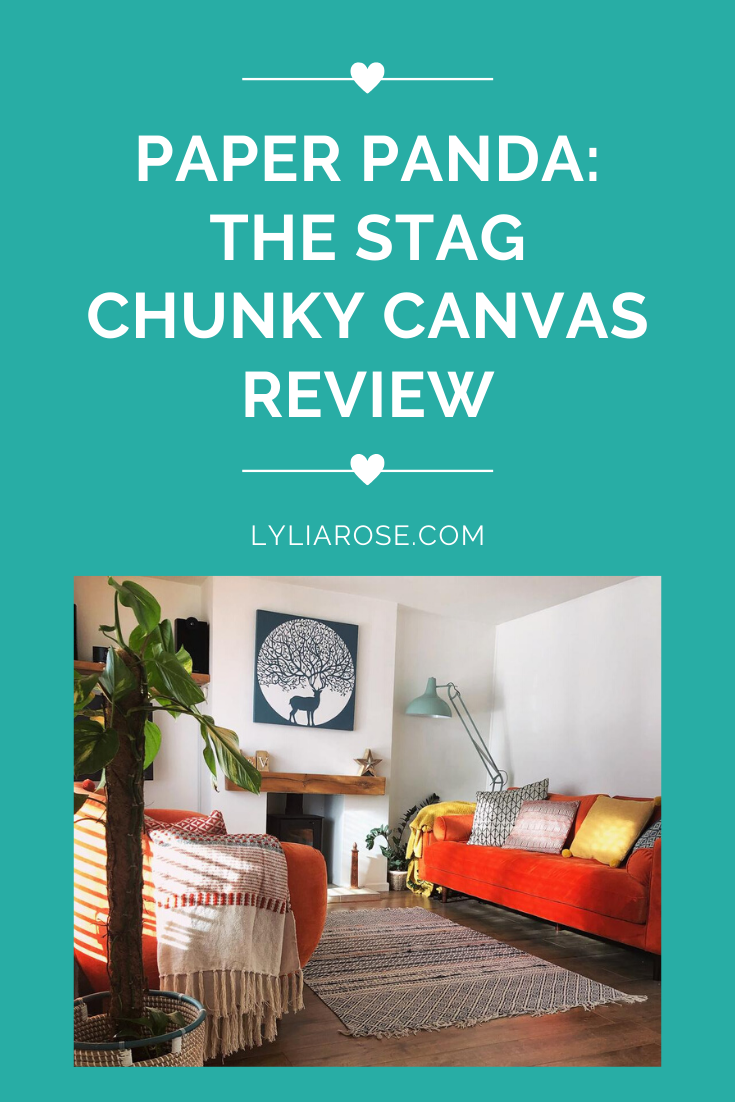 Paper panda_ the stag chunky canvas review