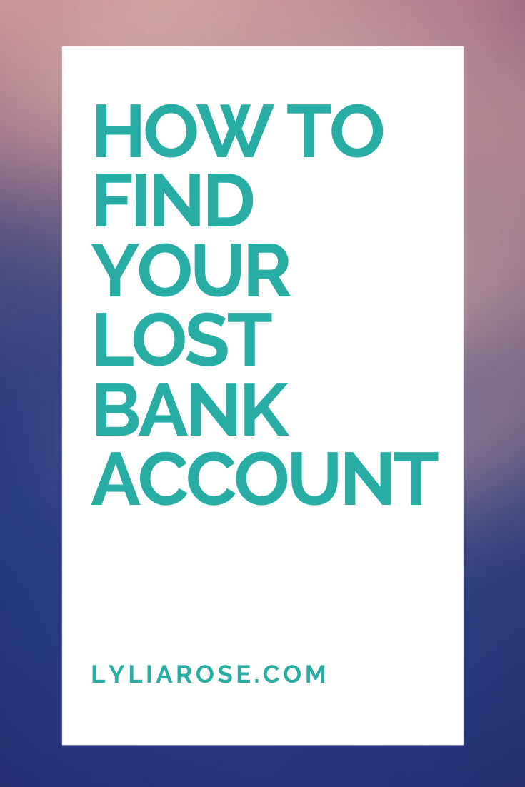 HOW TO FIND A LOST BANK ACCOUNT UK