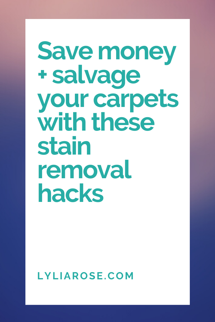 Save money + salvage your carpets with these stain removal hacks