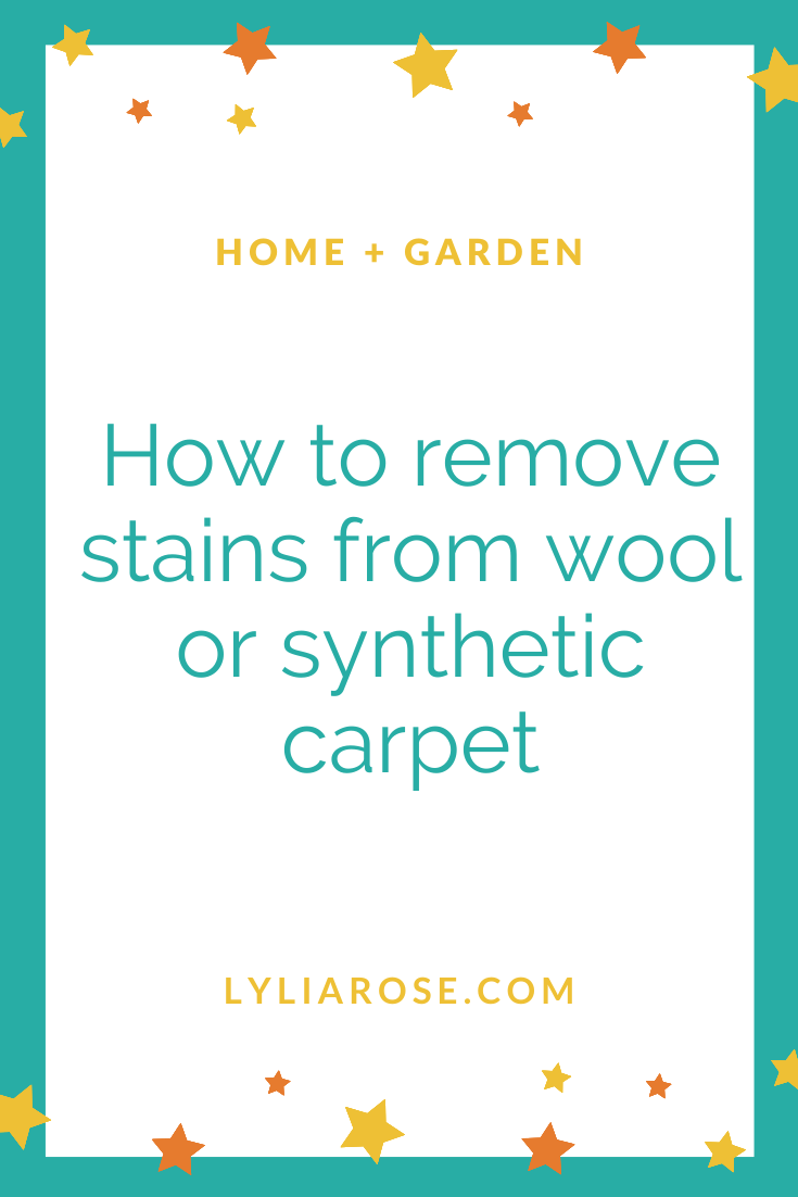How to remove stains from wool or synthetic carpet
