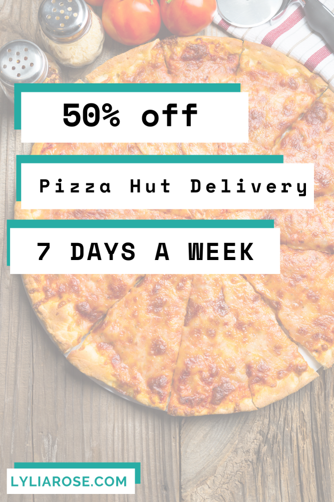 50% off Pizza Hut Delivery 7 days a week! (5)