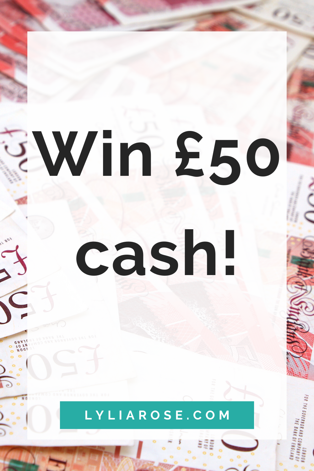 win £50 cash prize giveaway