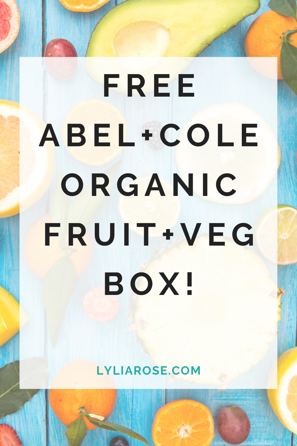 Free Abel+Cole Organic FRUIT+Veg Box! (1)
