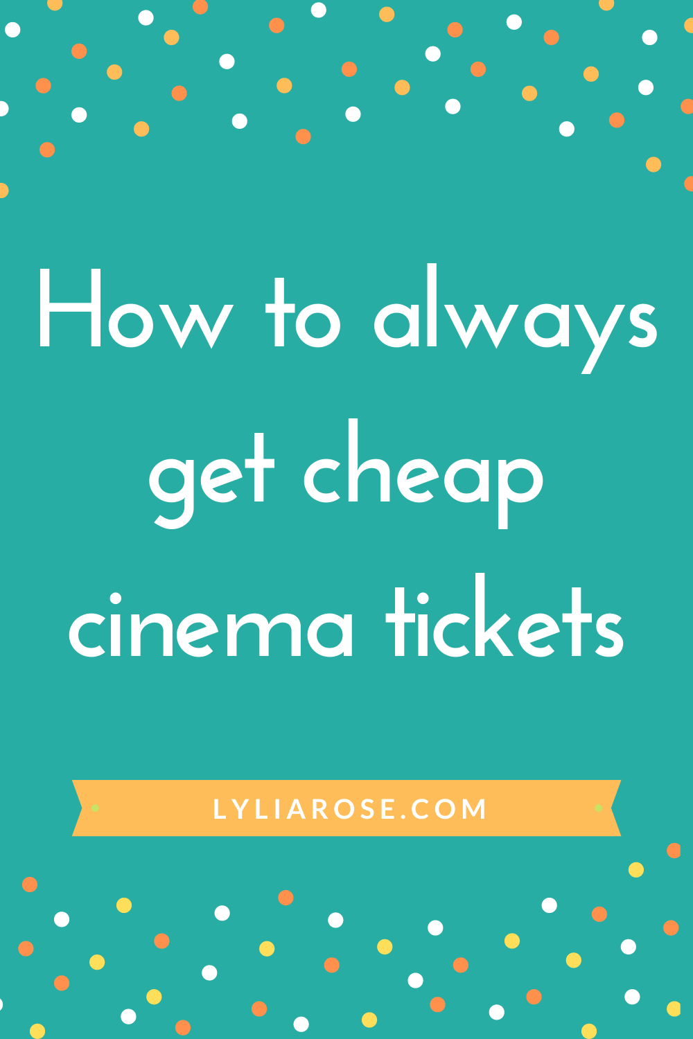 How to always get cheap cinema tickets (5)