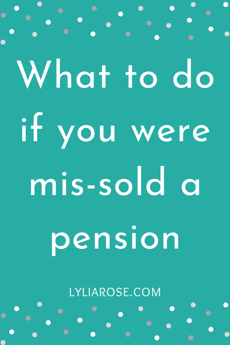 What to do if you were mis-sold a pension