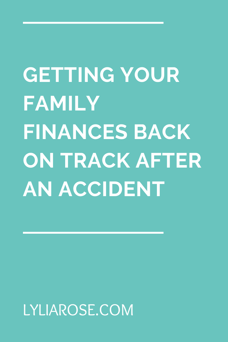 Getting your family finances back on track after an accident