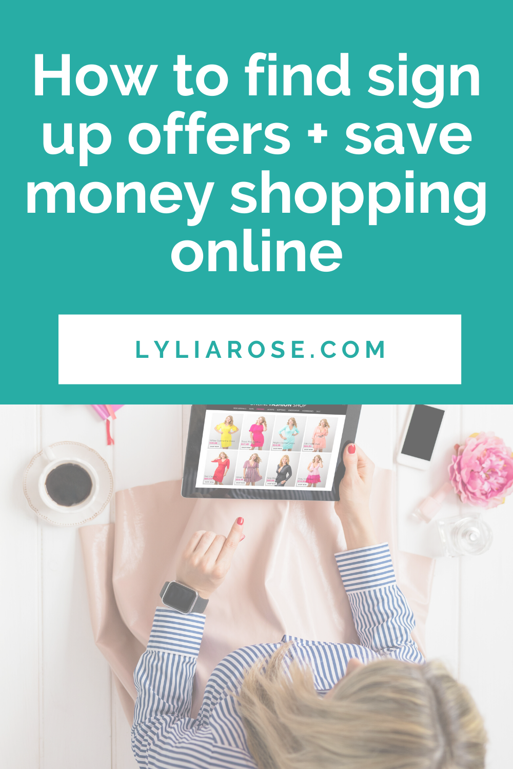 How to find sign up offers + save money shopping online