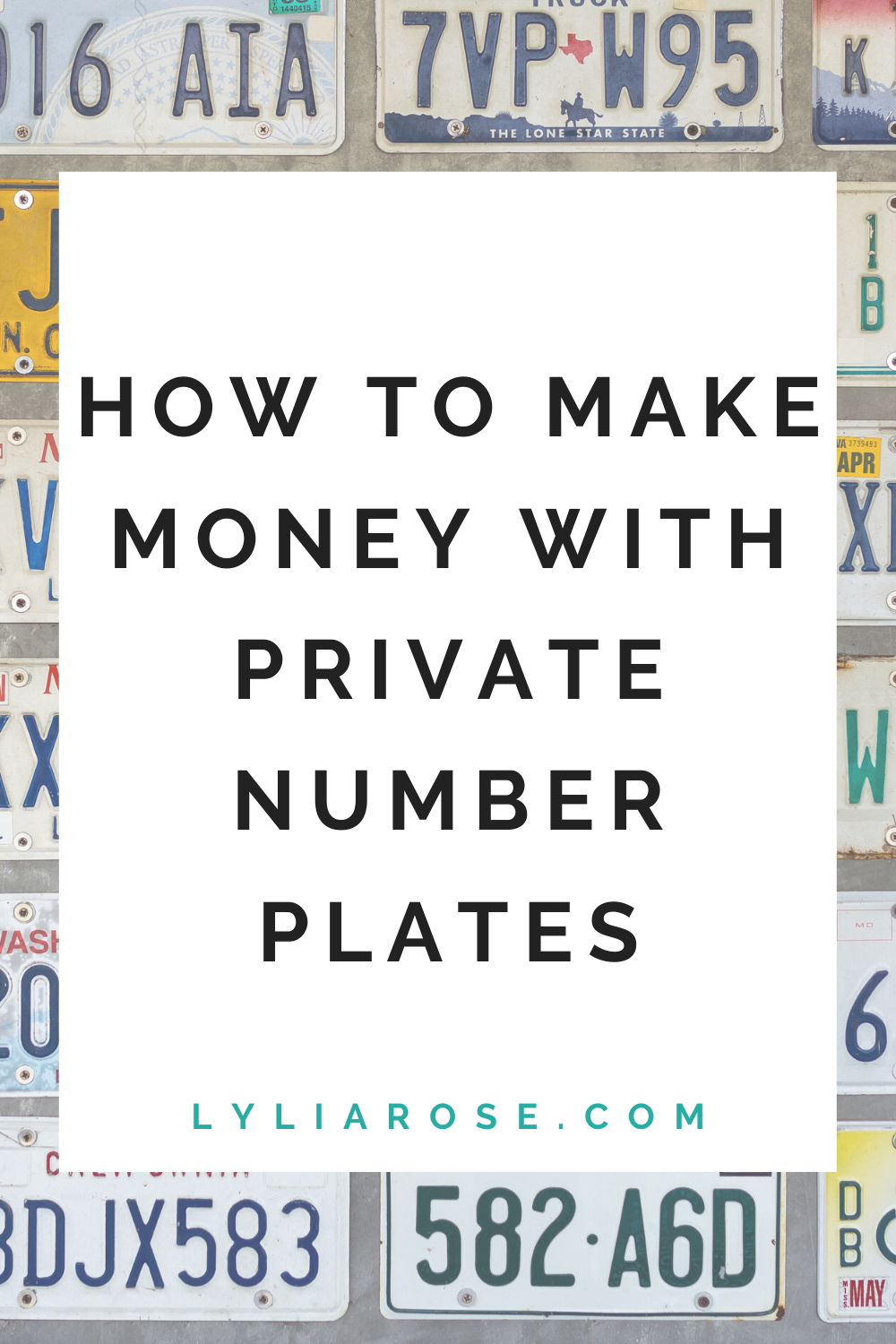How to make money with private number plates
