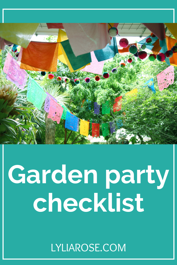 garden party checklist