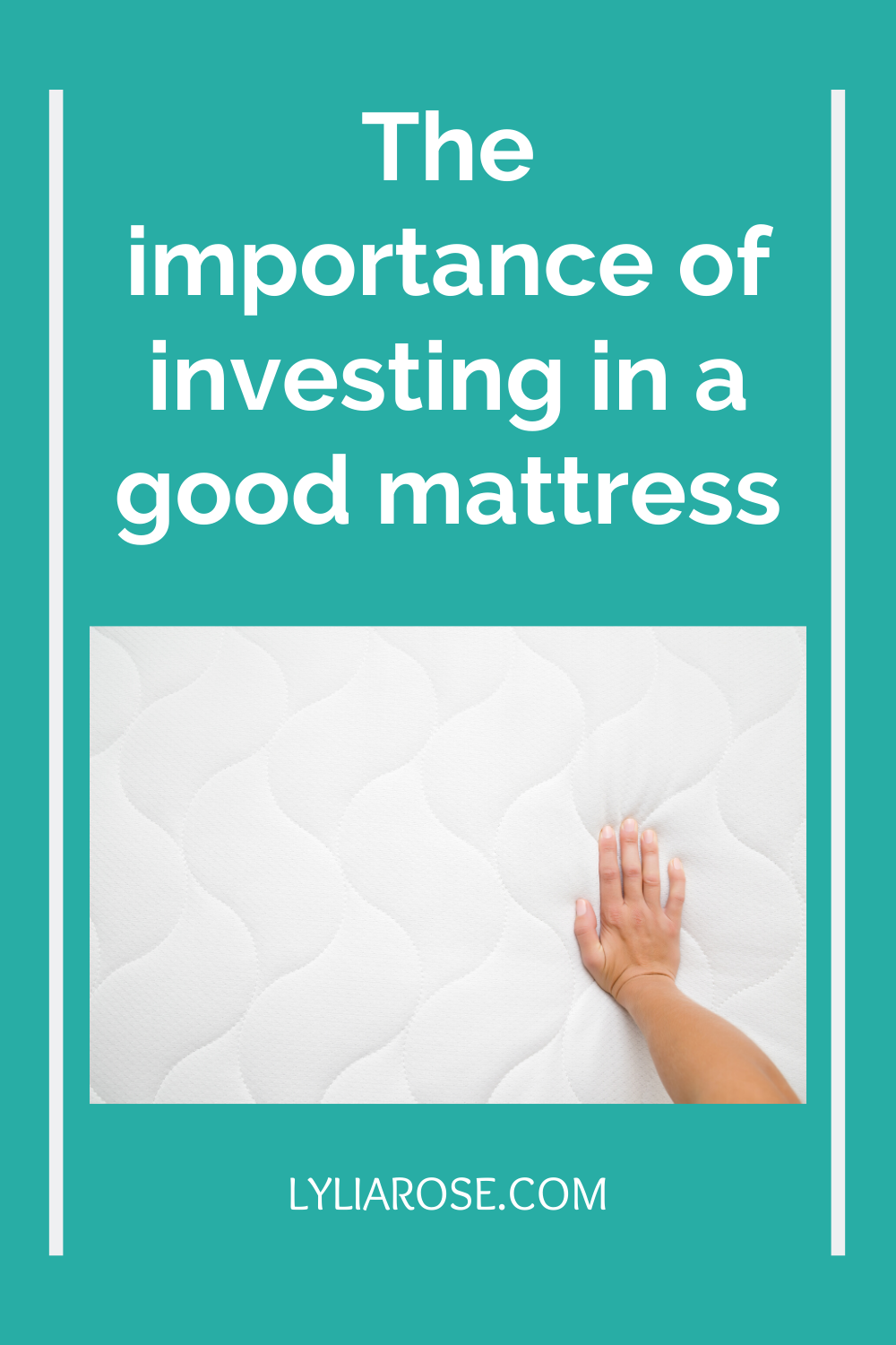 The importance of investing in a good mattress
