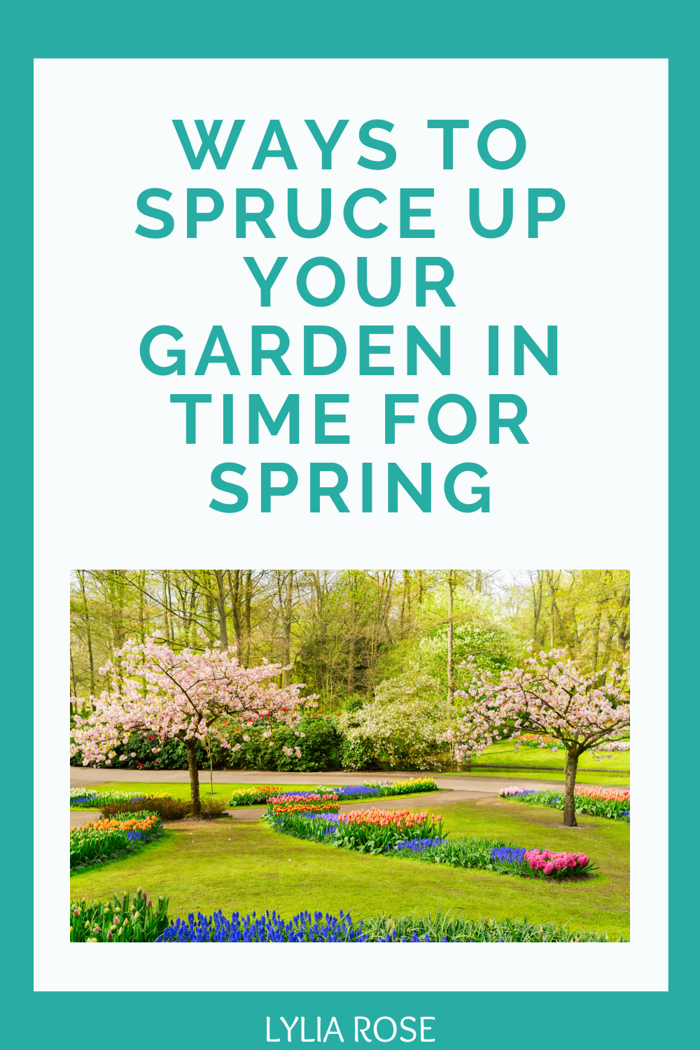 Ways to spruce up your garden in time for spring