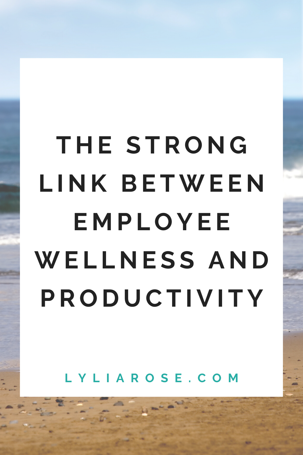 The strong link between employee wellness and productivity (1)