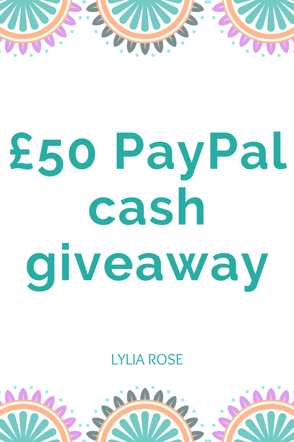 £50 PayPal cash giveaway