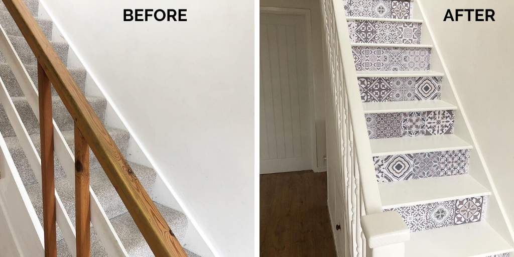 How we updated our entire staircase for under £100 (1)