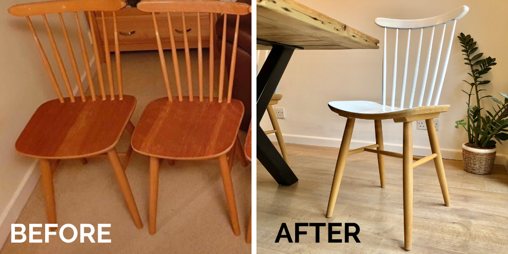 How to save money and upcycle second-hand dining chairs (1)