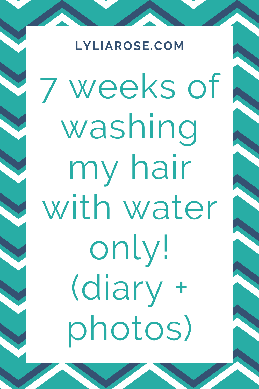 7 weeks of washing my hair with water only!