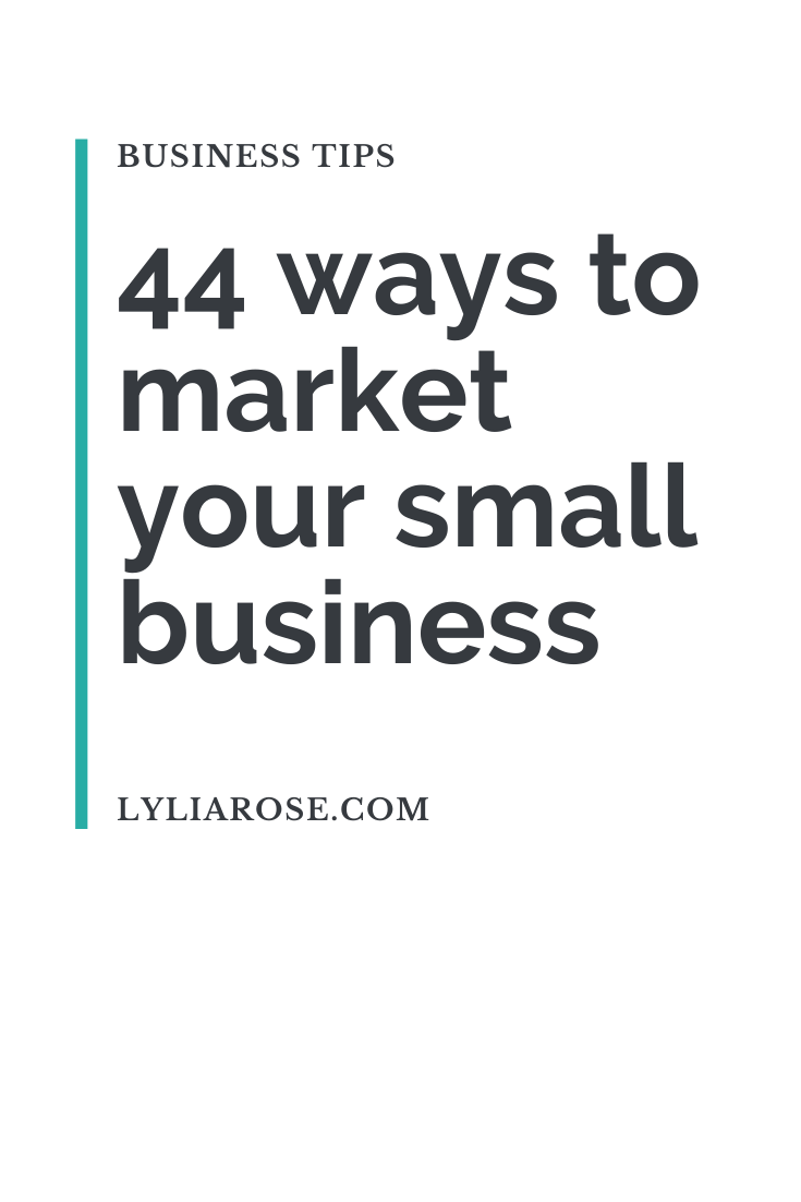 44 ways to market your small business (2)