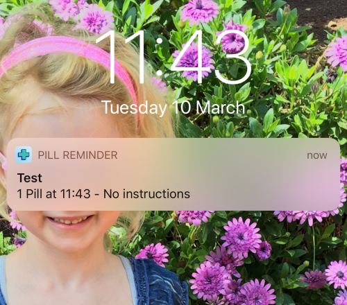 Free pill reminder app - safe and sound