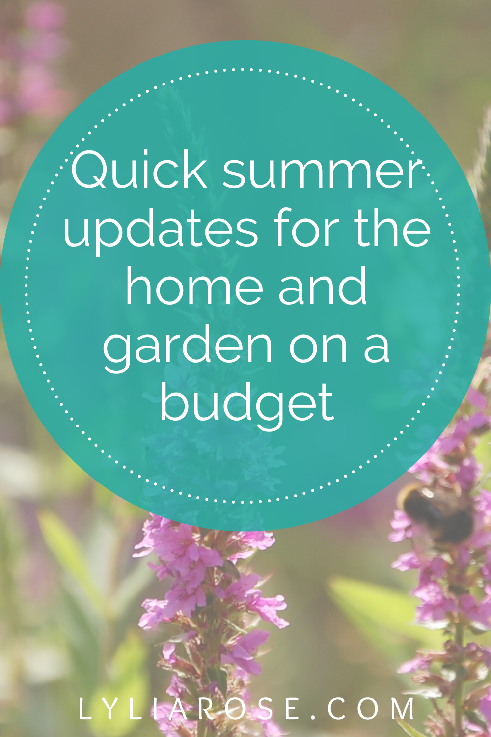 Quick summer updates for the home and garden on a budget (1)